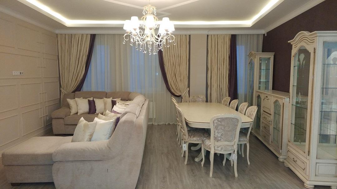 Пошив штор в Алматы ЖК Шахристан